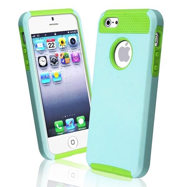 BasAcc Green TPU/ Light Blue Hard Hybrid Case for Apple® iPhone 5/ 5S