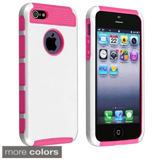 INSTEN Hard Plastic Hybrid Phone Case Cover for Apple iPhone 5/ 5S