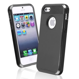 BasAcc Black TPU/ Black Hard Hybrid Case for Apple� iPhone 5/ 5S