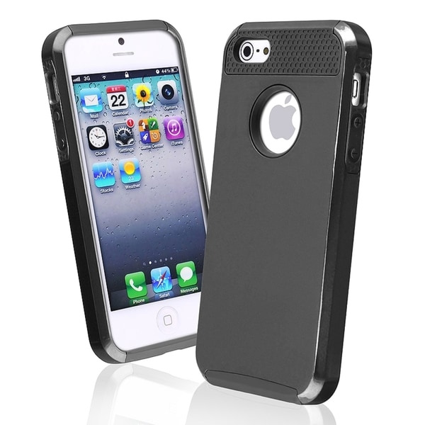 BasAcc Black TPU/ Black Hard Hybrid Case for Apple® iPhone 5/ 5S