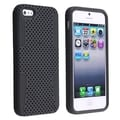 BasAcc Black Skin/ Black Meshed Hard Hybrid Case for Apple� iPhone 5/ 5S