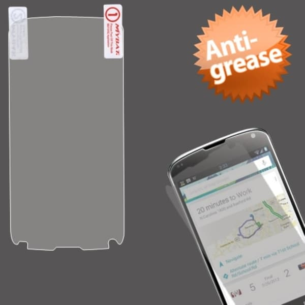 BasAcc Clear Anti-grease LCD Screen Protector for LG E960 Nexus 4