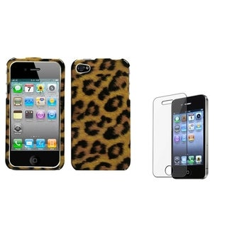 BasAcc Leopard Skin Case/ Screen Protector for Apple iPhone 4/ 4S