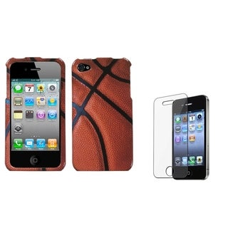 BasAcc Basketball Case/ Screen Protector for Apple iPhone 4/ 4S