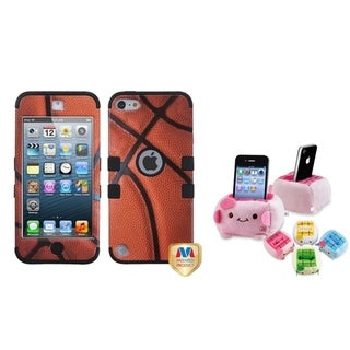 Insten Basketball TUFF iPod Case Cover/ Plush Holder for Apple iPod Touch 5th/ 6th