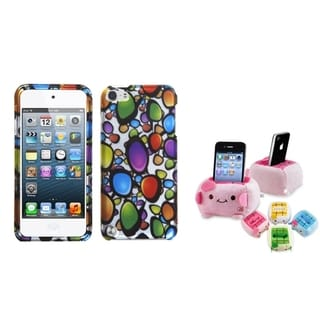 Insten Rainbow Gem Silver iPod Case Cover/ Plush Holder for Apple iPod Touch 5th/ 6th