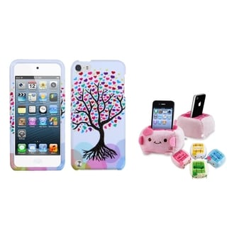 BasAcc Love Tree Hearts Case/ Plush Holder for Apple iPod Touch 5