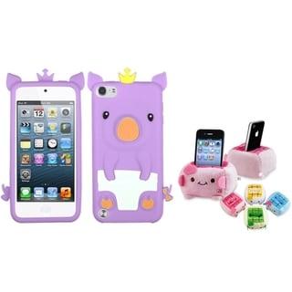 INSTEN Purple Piggy iPod Case Cover/ Plush Holder for Apple iPod Touch 5