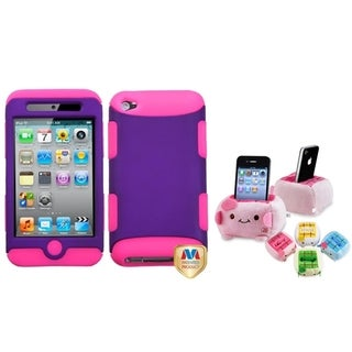 BasAcc Grape/ Pink Case/ Plush Holder for Apple iPod Touch 4