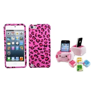 INSTEN Pink Leopard iPod Case Cover/ Plush Holder for Apple iPod Touch 5