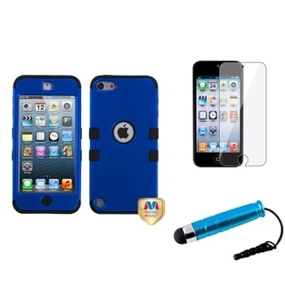 Insten Blue TUFF iPod Case Cover/ Stylus/ Clear LCD Screen Protector for Apple iPod Touch 5th/ 6th