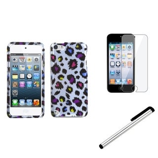 BasAcc Leopard Case/ Stylus/ LCD Protector for Apple iPod Touch 5