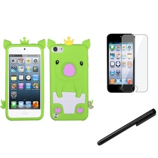 BasAcc Piggy Case/ Stylus/ LCD Protector for Apple iPod Touch 5