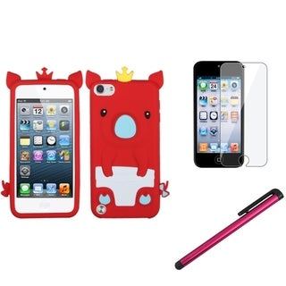 INSTEN Piggy iPod Case Cover/ Stylus/ LCD Protector for Apple iPod Touch 5