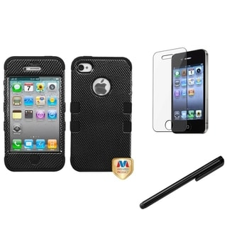 BasAcc Black Case/ Stylus/ LCD Protector for Apple iPhone 4/ 4S
