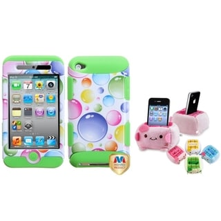 BasAcc Rainbow Case/ Plush Holder for Apple iPod Touch 4/ 4S