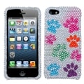 BasAcc Dog Paw Diamante Protector Case for Apple� iPhone 5