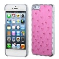 BasAcc Pink Silver Plating/ Ostrich Alloy Case for Apple� iPhone 5