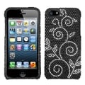 BasAcc Dark Wonderland Diamante Protector Case for Apple iPhone 5