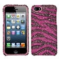 BasAcc Zebra Hot Pink/ Black Diamante Case for Apple� iPhone 5