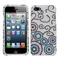 BasAcc Bubble Flow Diamante Protector Case for Apple iPhone 5