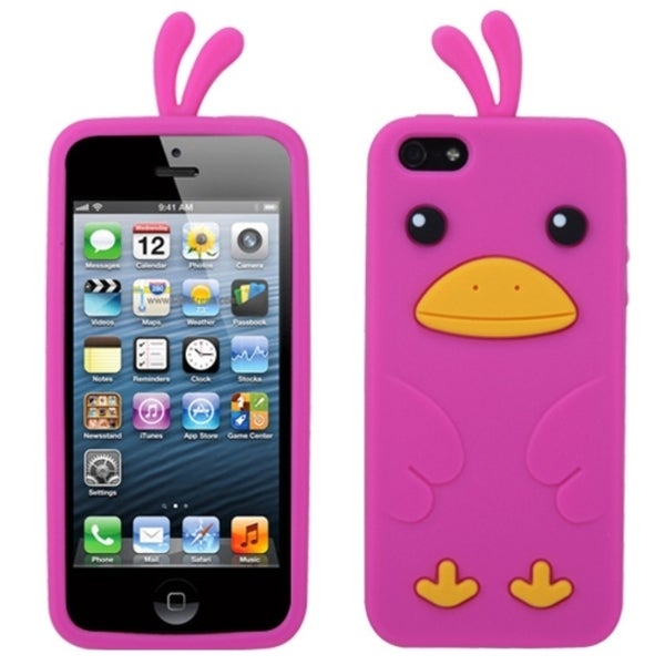 INSTEN Hot Pink Chick Pastel Skin Phone Case Cover for Apple iPhone 5
