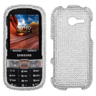INSTEN Silver Diamante Protector Phone Case Cover for Samsung M390 Montage