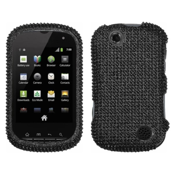 INSTEN Black/ Diamante Phone Case Cover for Kyocera C5120 Milano