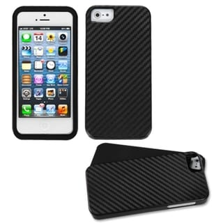 BasAcc Black/ Crosshatch Fusion Case for Apple iPhone 5