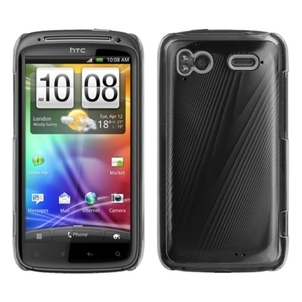 INSTEN Black/ Cosmo Phone Case Cover for HTC Sensation 4G