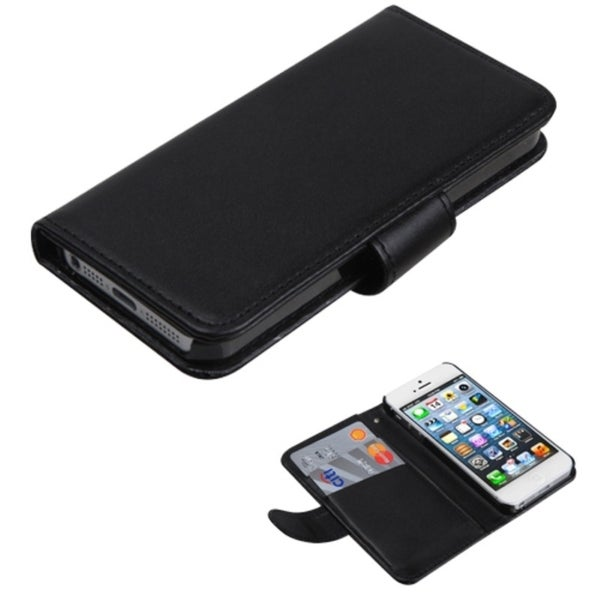 INSTEN Black Book-style Wallet for Apple iPhone 5