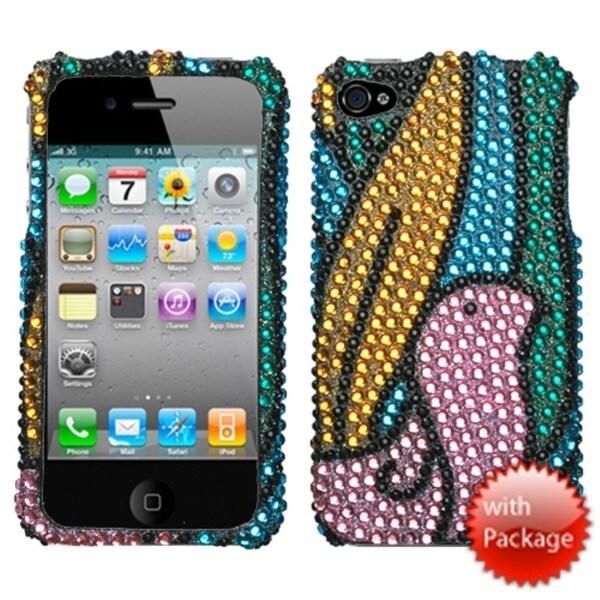 INSTEN Birdy/ Premium Diamante Phone Case Cover for Apple iPhone 4S/ 4