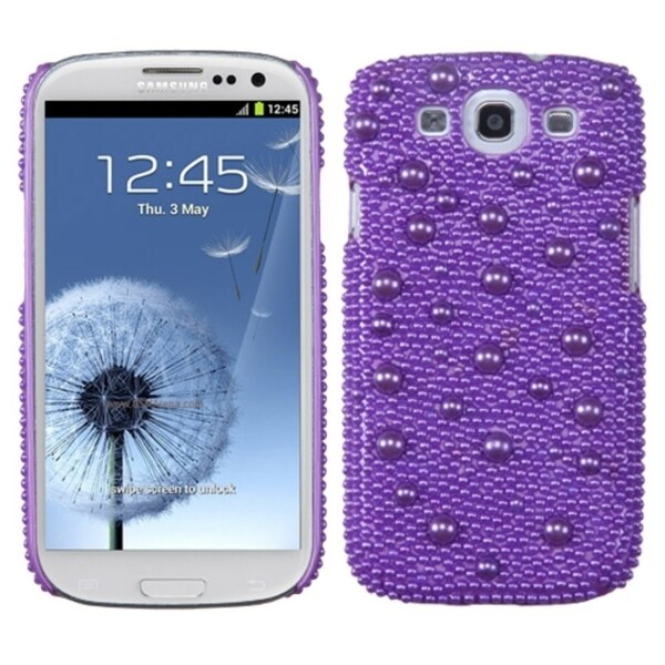 INSTEN Baby Purple/ Pearl/ Diamond Phone Case Cover for Samsung Galaxy S III/ 3