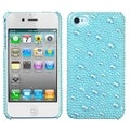 BasAcc Baby Blue/ Pearl/ Diamante Case for Apple iPhone 4S/ 4