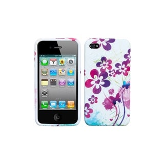 BasAcc Artistic Flowers Phone Case for Apple iPhone 4S/ 4