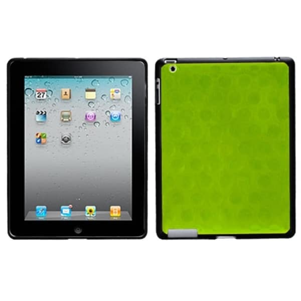 INSTEN Apple Green/ Solid Black Hole Tablet Case Cover for Apple iPad 1/ 4