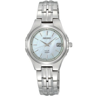 """Seiko Solar Classic Mother of Pearl Women's Watch"