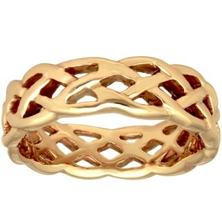 14k Yellow Gold Men's Comfort-Fit Celtic Wedding Band