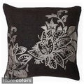 'Geeta' Transitional Floral Foil Print Square Pillow