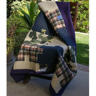 Ranger Camouflage Puzzle Quilted Throw