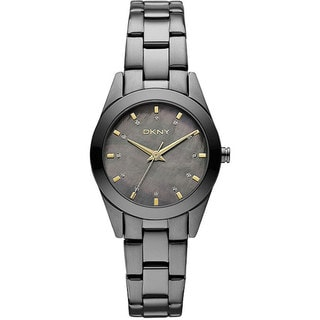 DKNY Women's NY8622 Grey Stainless-Steel Quartz Watch with Grey Dial
