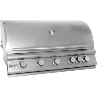 Blaze 40-Inch 5-Burner Built-In Natural Gas Grill With Rear Infrared Burner