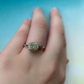 Miadora 14k White Gold 4/5ct TDW Fancy Yellow Diamond Ring (SI1-SI2)