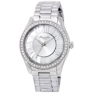 Kenneth Cole Women's Transparency KC4851 Silver Stainless-Steel Quartz Watch with Silver Dial