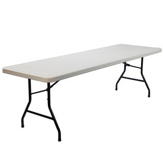 Lightweight Rectangular Plastic Folding Table (8 feet)