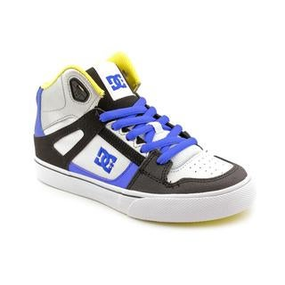 DC Boy Youth 'Spartan HI' Leather Athletic Shoe