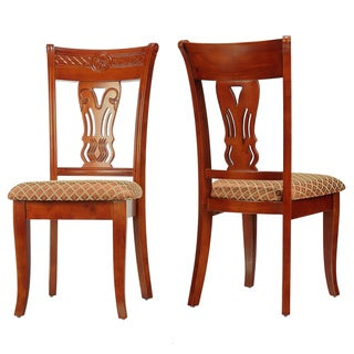 Cortesi Home Queen Ann Harp Back Dining Chair (Set of 2)