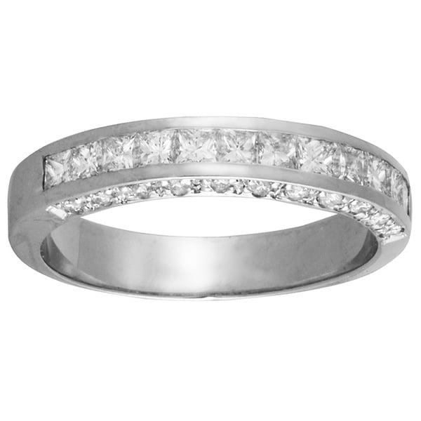 14k White Gold 4/5ct TDW Diamond Wedding Ring (G-H, S-I)