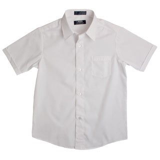 French Toast Boys White Short-Sleeve Classic Dress Shirt