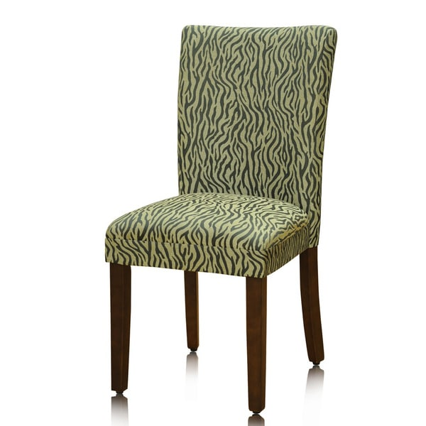 Homepop Pair Animal Print Parson Chairs Set Of 2